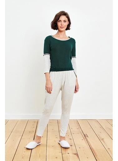Reflections Çift Renk Kombinli Yeşil Pijama Takımı Renkli